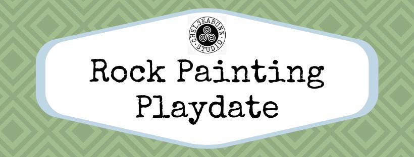 Rock painting playdate header