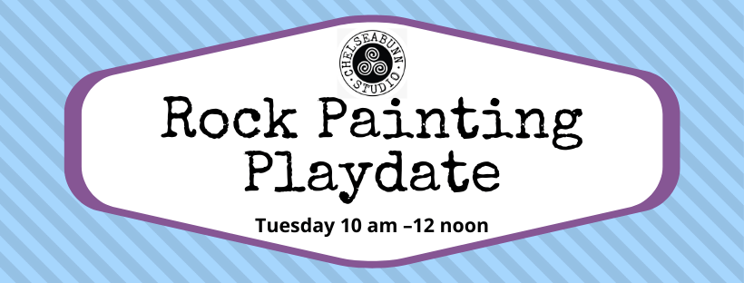Tuesday Rock Painting Playdate header