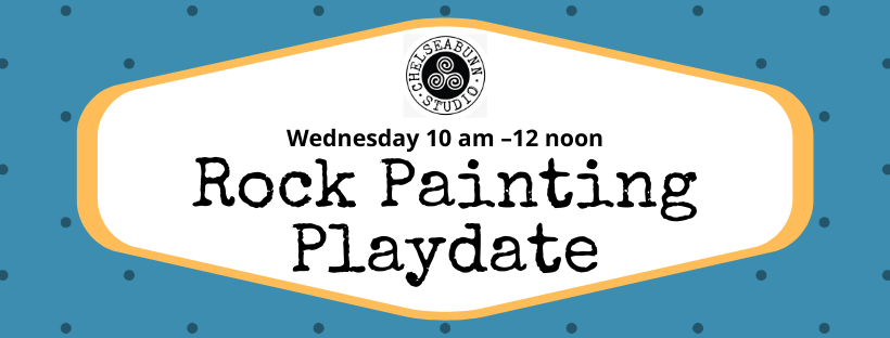 Wednesday Rock Painting Playdate header
